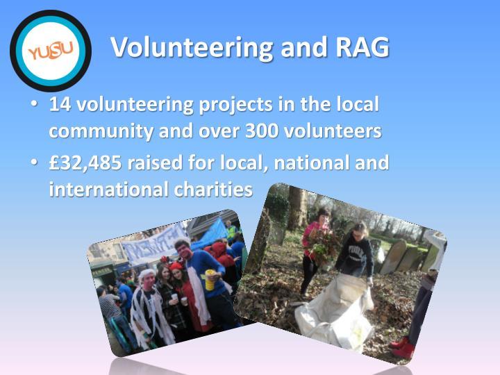 Volunteering and RAG