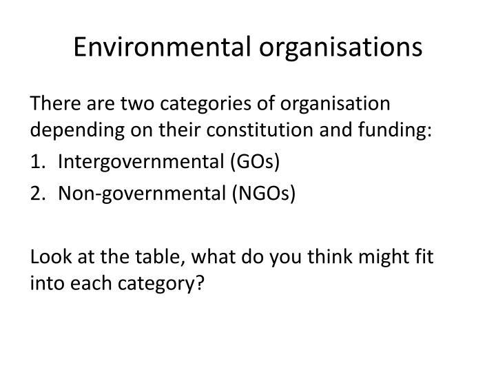 Environmental organisations
