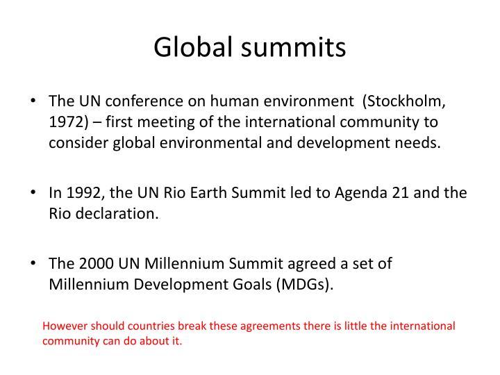 Global summits