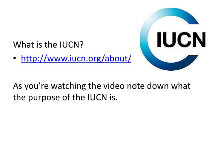 What is the IUCN?