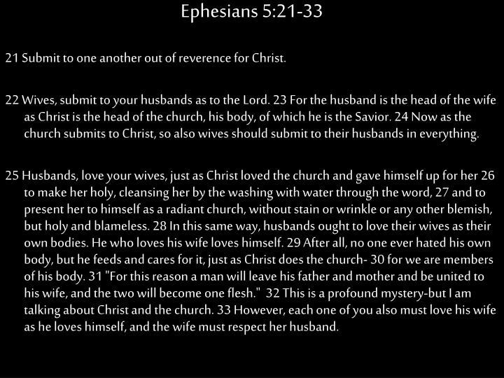 Ephesians 5:21-33