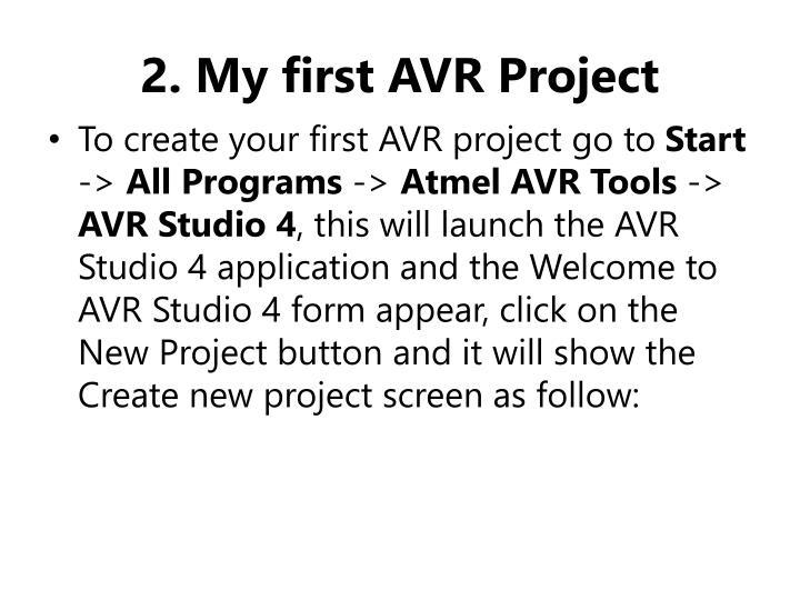 2. My first AVR