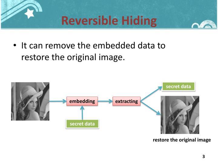 Reversible Hiding