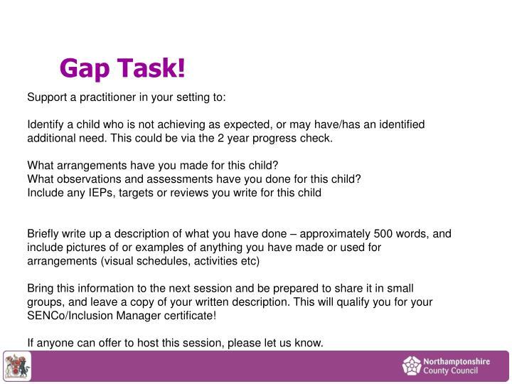 Gap Task!