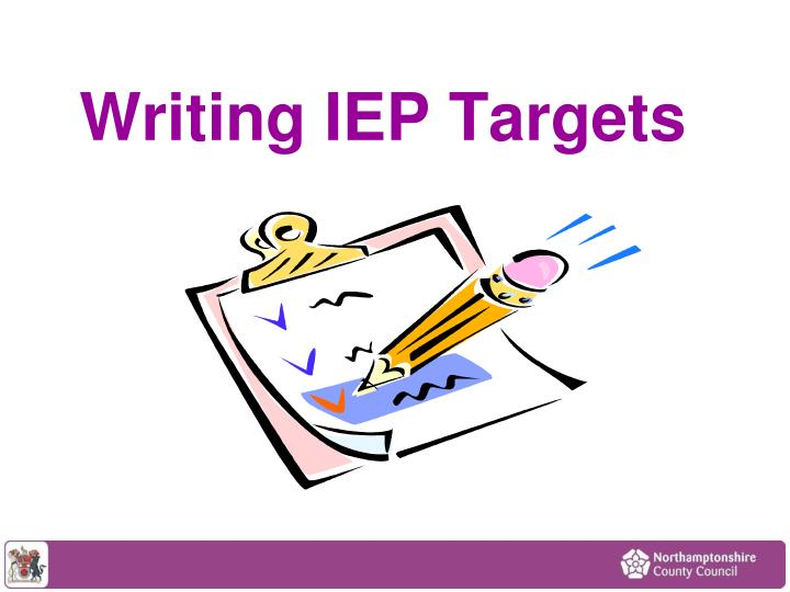 Writing iep targets
