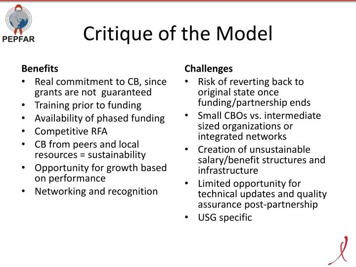 Critique of the Model