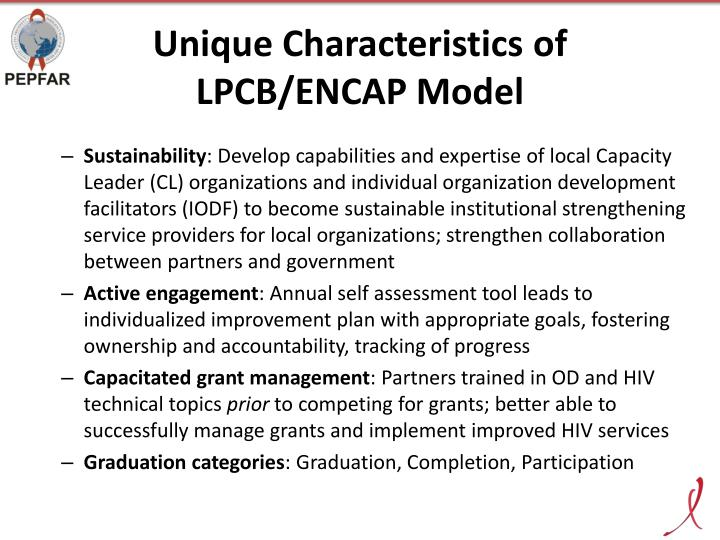 Unique Characteristics of LPCB/ENCAP Model