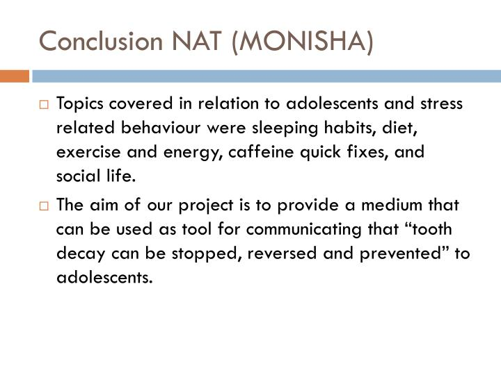 Conclusion NAT (MONISHA)