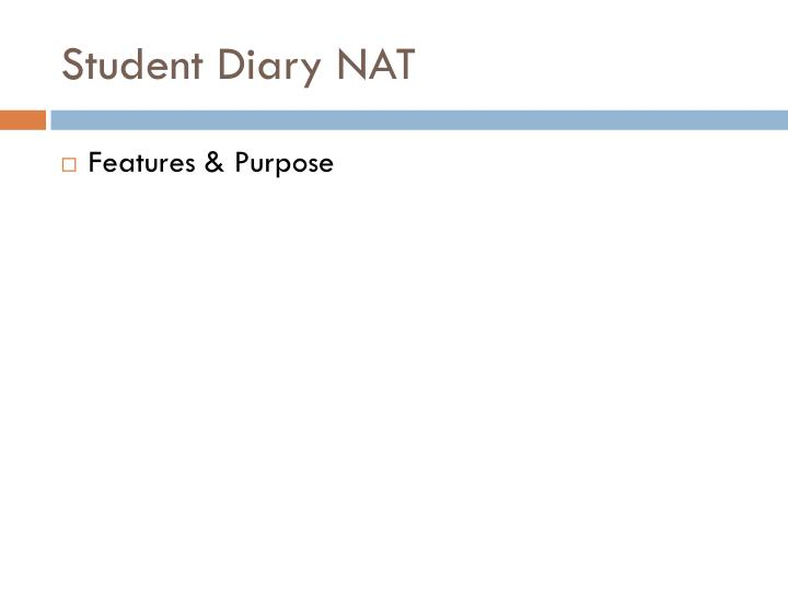 Student Diary NAT