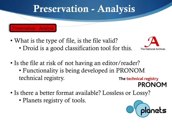 Preservation - Analysis
