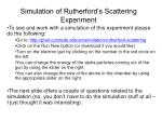 simulation of rutherford s scattering experiment