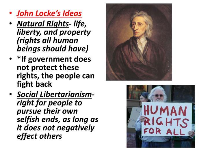 John Locke's Ideas