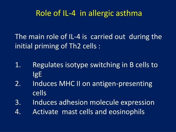 role of il 13 in asthma Role for macrophage migration inhibitory factor in asthma  (10–12) il-13 also mediates eosinophilic  we investigated mif's role in asthma by studying an.