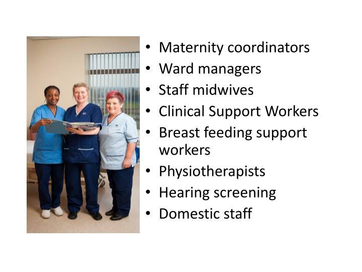 Maternity coordinators