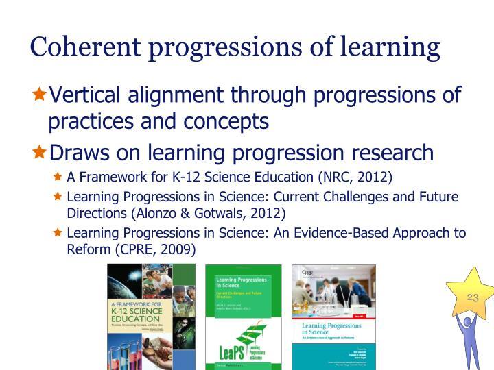 Coherent progressions