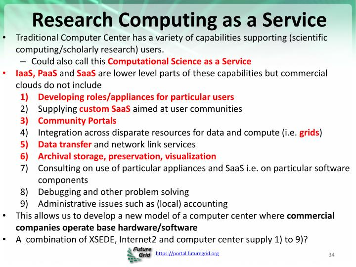 Research Computing as a Service