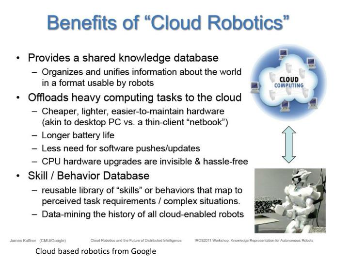 Cloud based robotics from Google