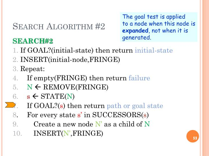 Search Algorithm #2