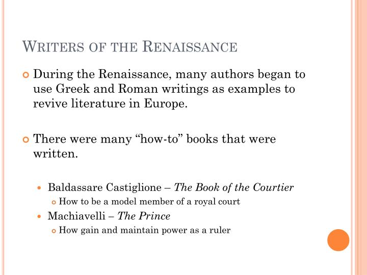 Writers of the Renaissance