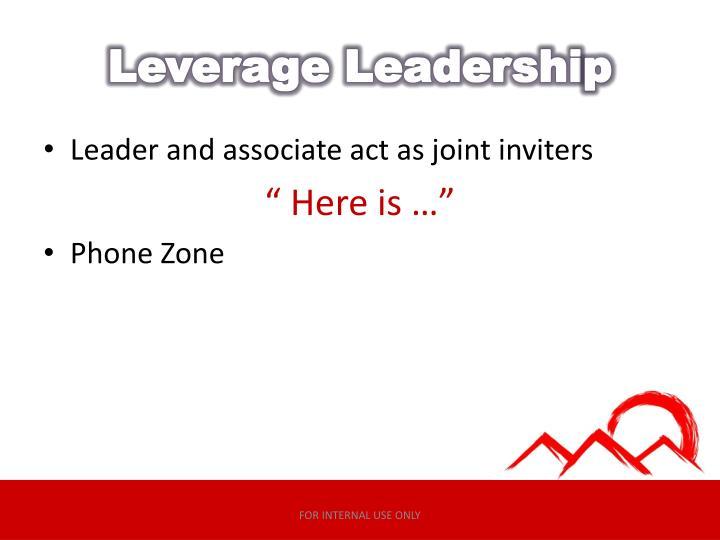 Leverage Leadershi