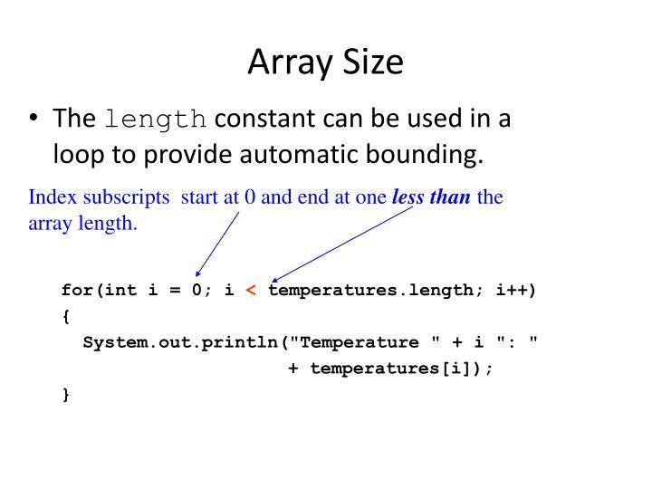 Array Size