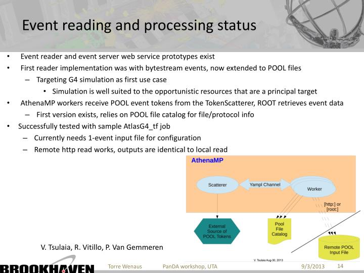 Event reading and processing status