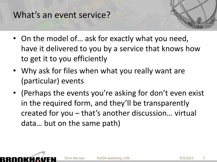 What's an event service?