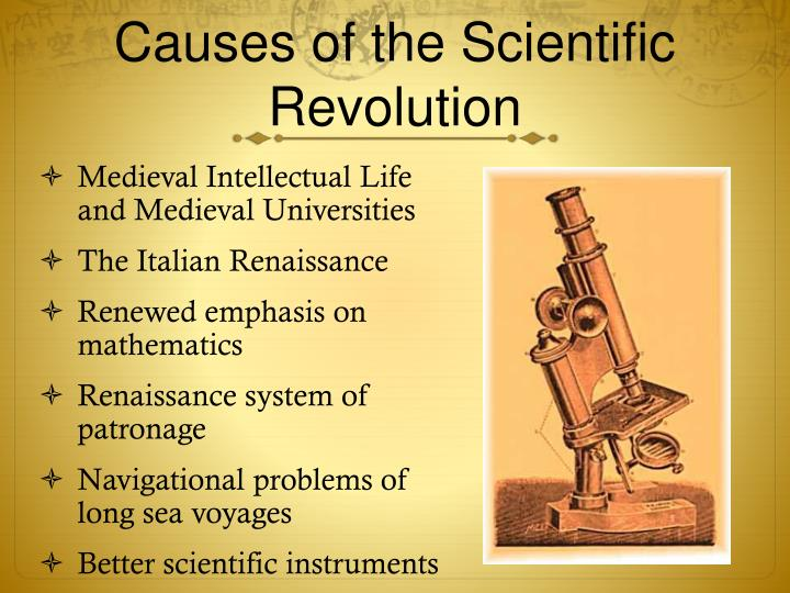 Causes of the Scientific Revolution