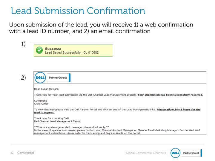 Lead Submission Confirmation