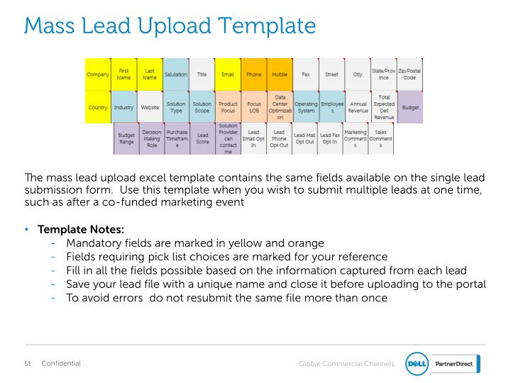 Mass Lead Upload Template