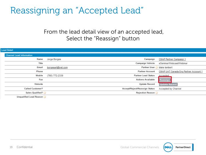 "Reassigning an ""Accepted Lead"""