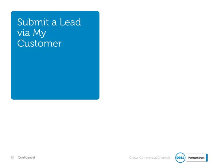 Submit a Lead via My Customer