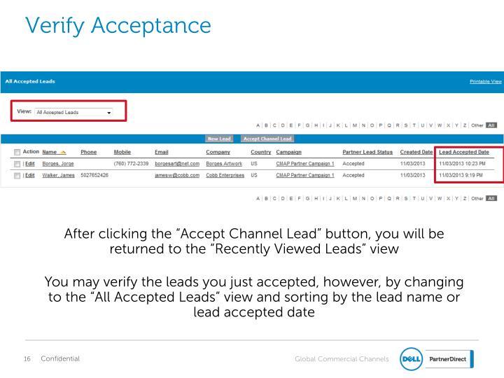 Verify Acceptance