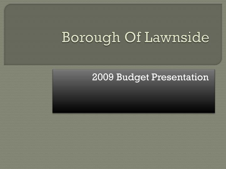 Borough of lawnside