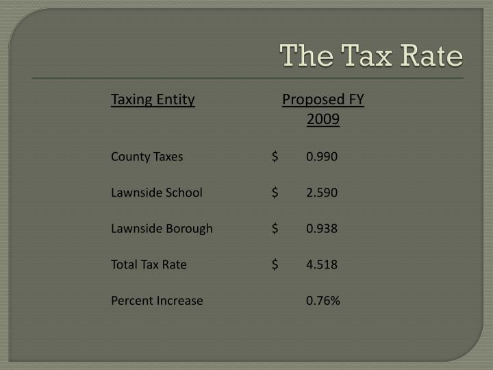 The Tax Rate