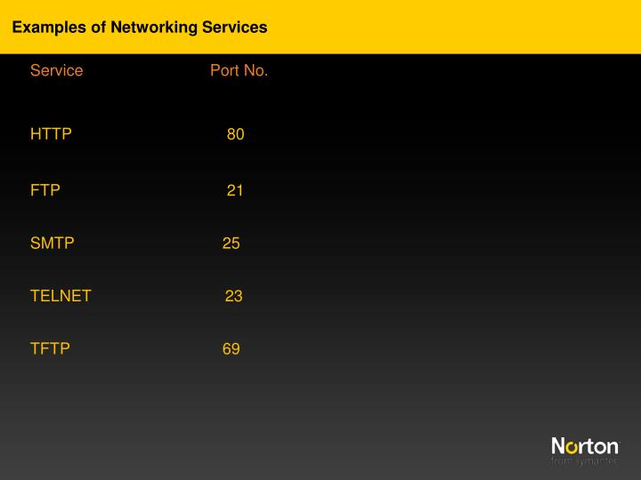 Examples of Networking Services