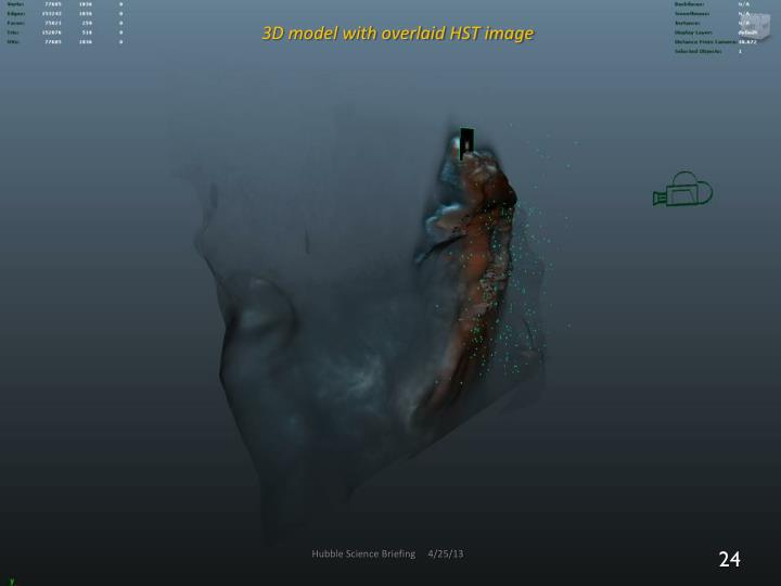 3D model with overlaid HST image