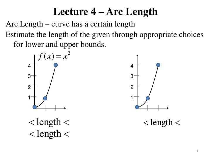 Lecture 4 arc length