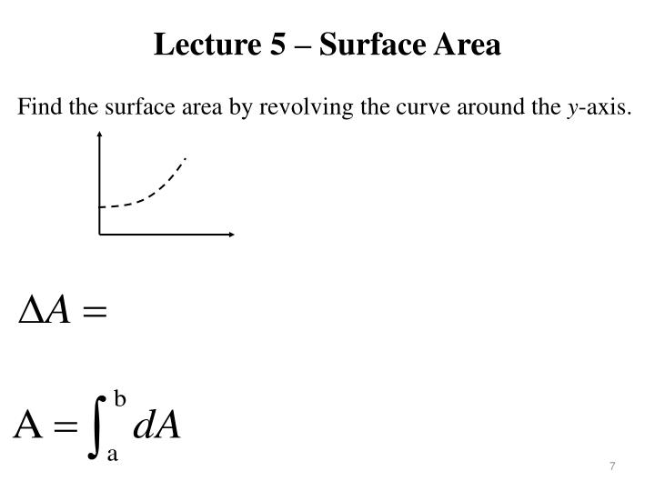 Lecture 5 – Surface Area