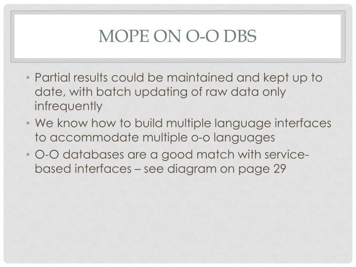 Mope on O-O DBS