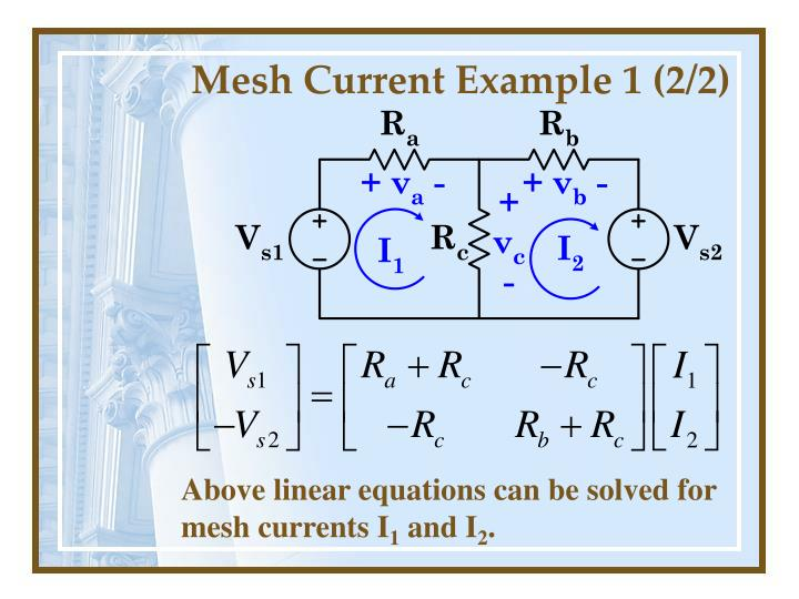 Mesh Current Example 1 (2/2)
