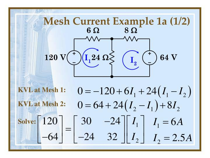 Mesh Current Example 1a (1/2)