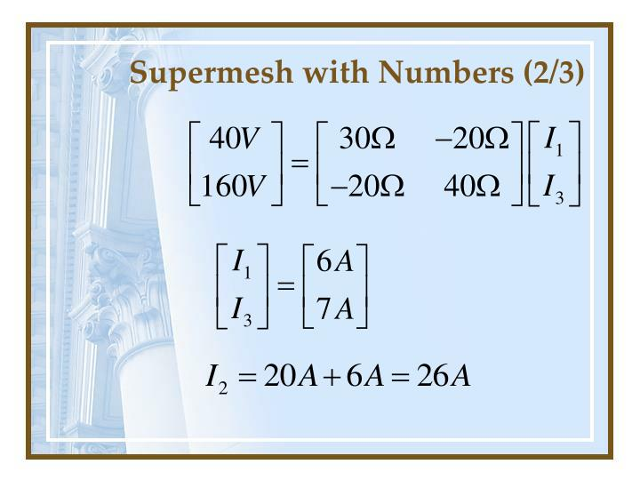 Supermesh with Numbers (2/3)