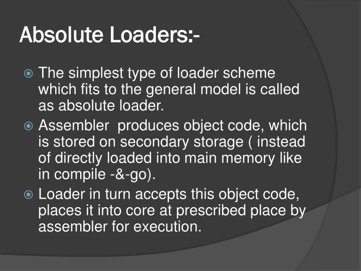 Absolute Loaders:-