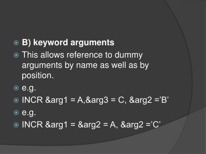 B) keyword