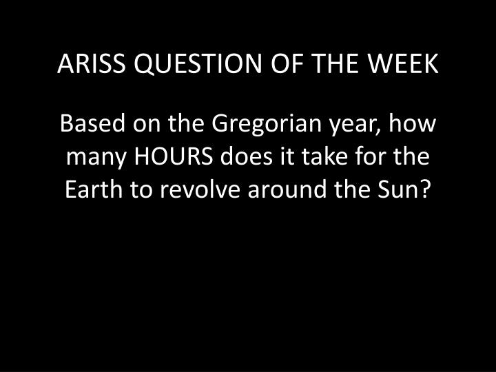 Based on the gregorian year how many hours does it take for the earth to revolve around the sun
