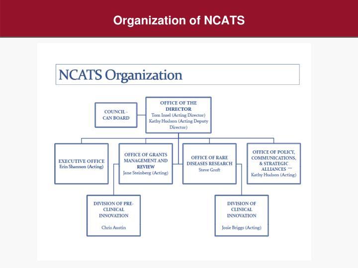 Organization of NCATS