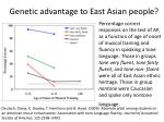 genetic advantage to east asian people
