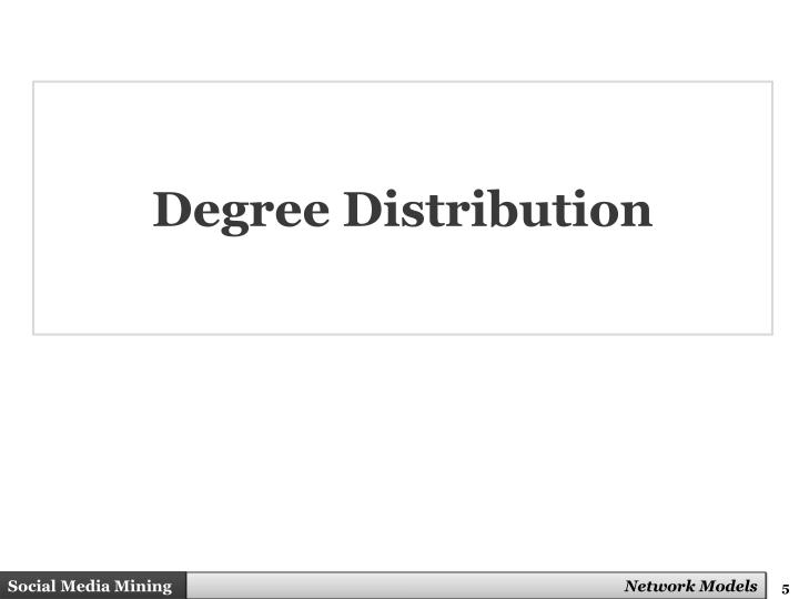 Degree Distribution