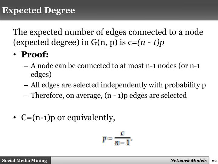 Expected Degree